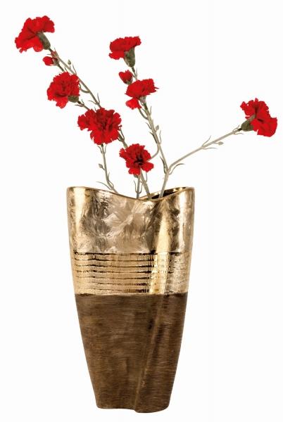 Exklusive hochwertige Vase Höhe 35 cm Dekovase in gold