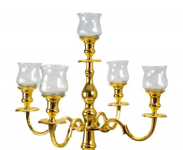 Glaseinsätze Groß für Kerzenständer Kerzenleuchter 5er SET